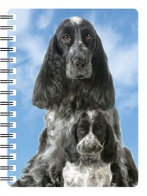 Cocker Spaniel 3D notebook (with pup)